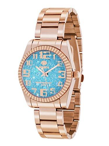 Uhr Flut Frau b41151 8 Rose und Blau