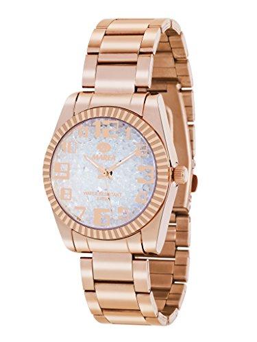 Uhr Flut Frau b41151 6 Rose und Weiss