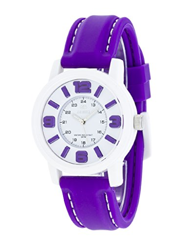 Uhr Flut Frau b41162 11 Gummi Violett