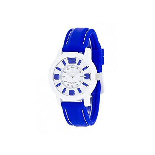 Uhr Flut Frau b41162 14 Gummi blau