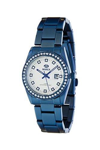 Uhr Flut Frau b41163 4 Stahl IP blau Zirkonia