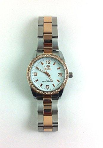 Uhr Flut Frau B41181 5 Bicolor Rose Zirkonia