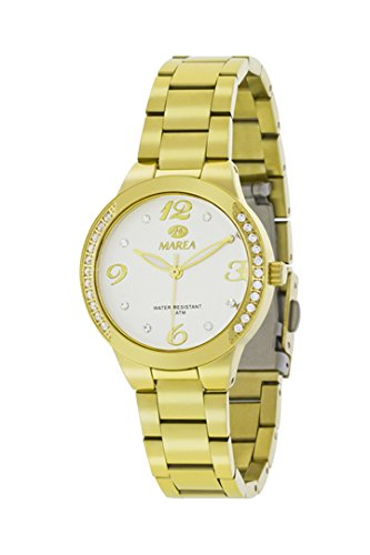 Uhr Flut Frau b54084 2 Beschichtung in Farbe Gold