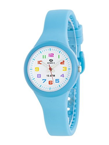 Uhr Flut Kinder b25135 4 Gummi blau