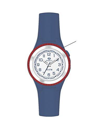 Uhr Flut Kommunion Unisex b25134 1 Gummi blau