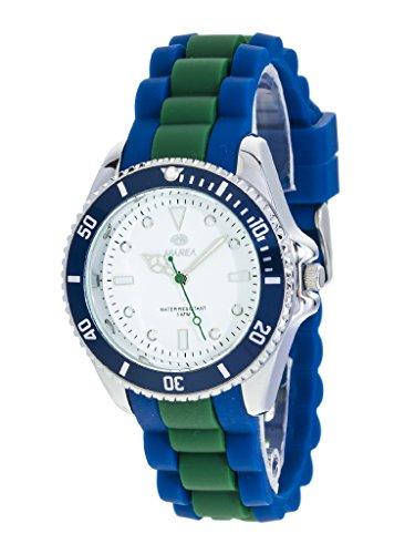 Uhr Flut Mann b41160 1 Gummi blau und gruen