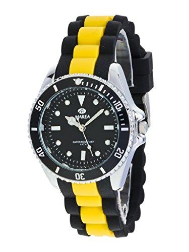 Uhr Flut Mann b41160 8 Gummi schwarz und Gelb