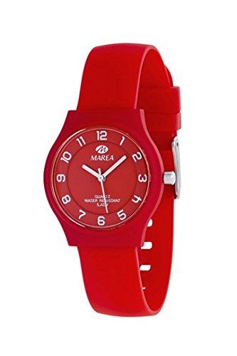 MAREA Armbanduhr NINETEEN SLIM S Silikon rot B35518 10