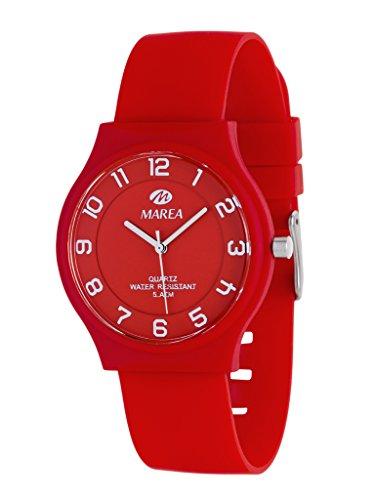 MAREA Armbanduhr NINETEEN SLIM M Silikon rot B35519 8