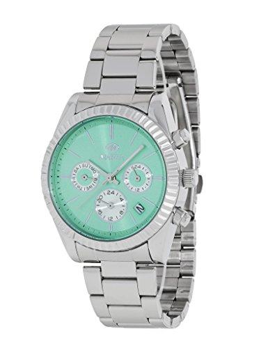 Damen Uhr Marea B41155 4 Metallisch Multifunktion Gruen Wasser