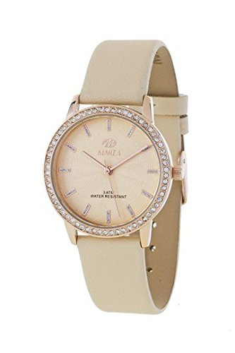 MAREA Uhr fuer Damen Trendy Lederband beige B41175 3