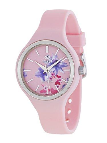 MAREA Uhr fuer Damen Trendy Silikonband rosa B35275 4