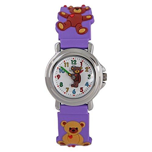 Marea Kids Maedchen Uhren mit Teddybaeren Motive Silikon Armband B37008 7