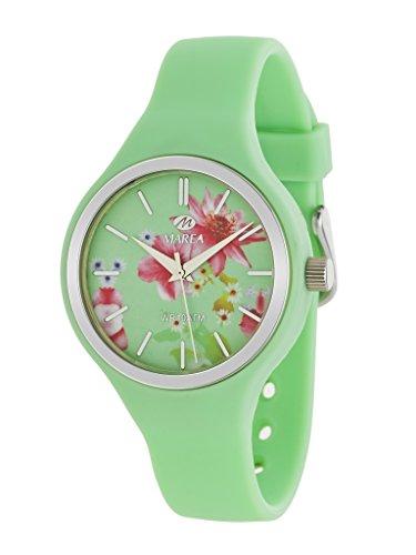 MAREA Uhr fuer Damen Trendy Silikonband gruen pastell B35275 5