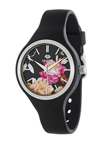 MAREA Uhr fuer Damen Trendy Silikonband schwarz B35275 1