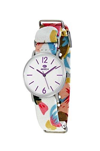 MAREA Uhr fuer Damen Trendy S 32mm buntes Textilband B42161 3