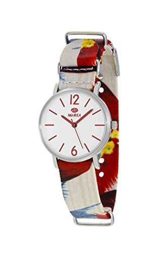 MAREA Uhr fuer Damen Trendy S 32mm buntes Textilband B42161 5