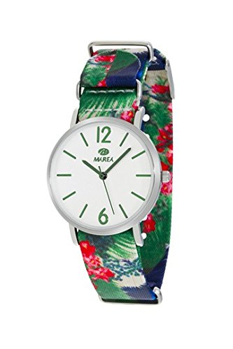 MAREA Uhr fuer Damen Trendy M 36mm buntes Textilband B42160 4