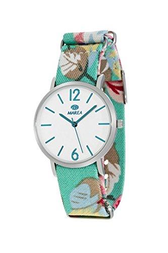 MAREA Uhr fuer Damen Trendy M 36mm buntes Textilband B42160 1