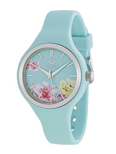 MAREA Uhr fuer Damen Trendy Silikonband tuerkis pastell B35275 6