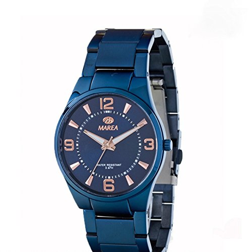Uhr Flut Mann b54080 3 Blau
