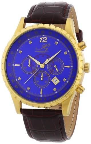 Ingraham Herren-Armbanduhr XL Athens Chronograph Quarz Leder IG ATHE1600205D