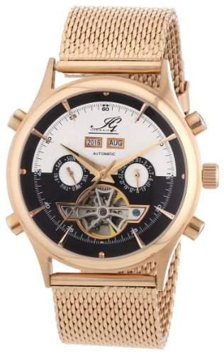 Ingraham Herren-Armbanduhr XL Marrakesh Analog Automatik Edelstahl beschichtet IG MARR1223307