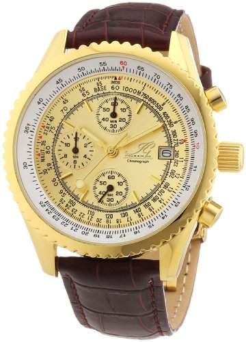 Ingraham Herren-Armbanduhr XL Nantes Chronograph Quarz Leder IG NANT1600201