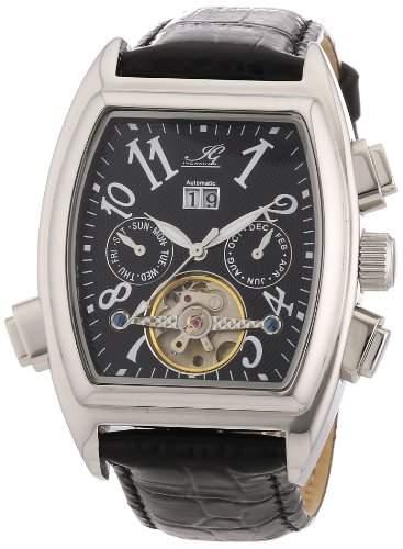 Ingraham Herren-Armbanduhr XL Tanger Analog Automatik Leder IG TANG1200107