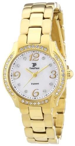 Time Piece Damen-Armbanduhr XS Diamant Analog Quarz Edelstahl beschichtet TPLA-60448-74M