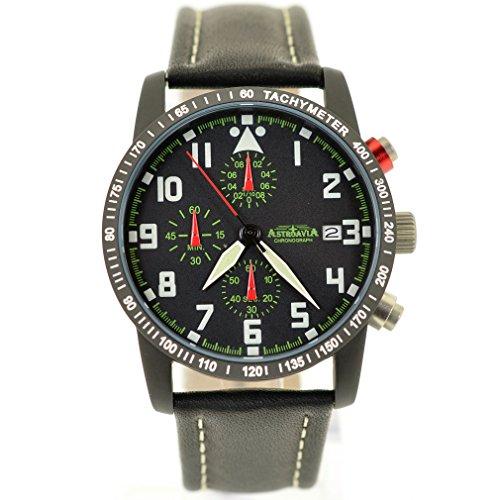Astroavia 6 Zeiger Profi Chronograph Pilot No 11L Black Edition