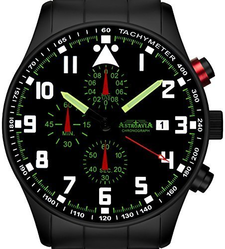 Astroavia N33BS Chronograph mit Edelstahl Armband 42 mm