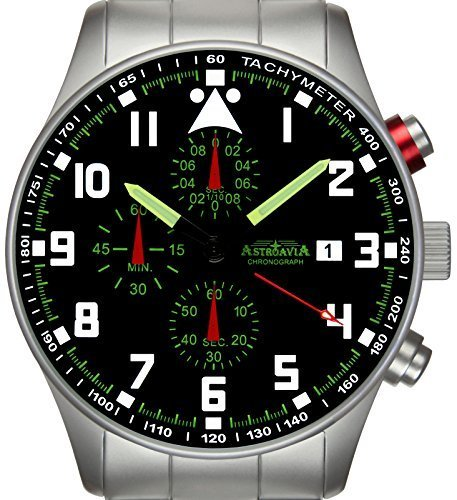 Astroavia N33S Chronograph mit Edelstahl Armband 42 mm