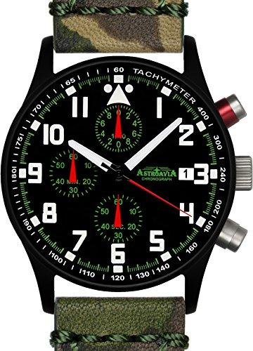 Astroavia N93BL1 Chronograph Lederarmband