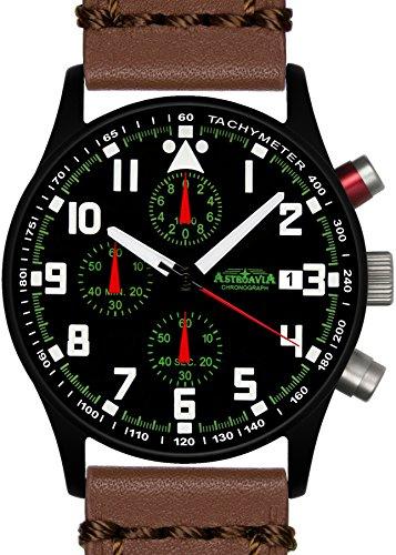 Astroavia N93BL6 Chronograph Lederarmband braun