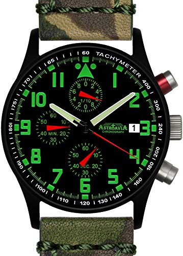 Astroavia N94BL1 Chronograph Lederarmband