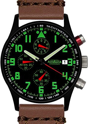 Astroavia N94BL6 Chronograph Lederarmband braun