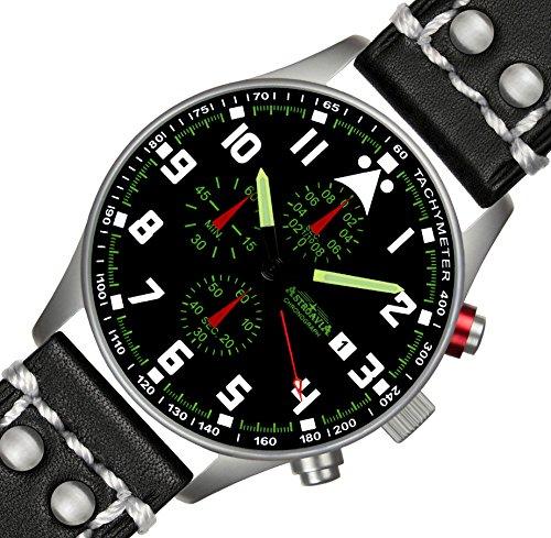 N33L2 42mm Astroavia Chronograph Herren Armbanduhr Uhrenarmband