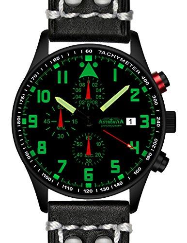 N34BL2 42mm Astroavia Chronograph Uhrenarmband