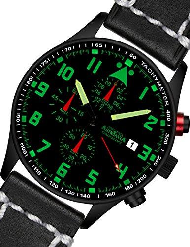 N34BL3 42mm Astroavia Chronograph Uhrenarmband