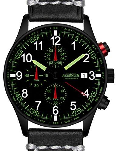 N37BL3 42mm Astroavia Chronograph Uhrenarmband