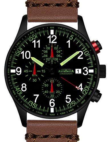 N37BL6 42mm Astroavia Chronograph Uhrenarmband