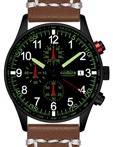 N37BL7 42mm Astroavia Chronograph Uhrenarmband