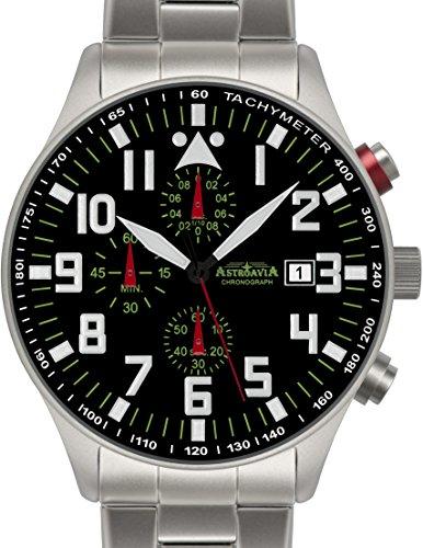 N53S Astroavia Chronograph Herren Armbanduhr Edelstahlband 44mm quarz