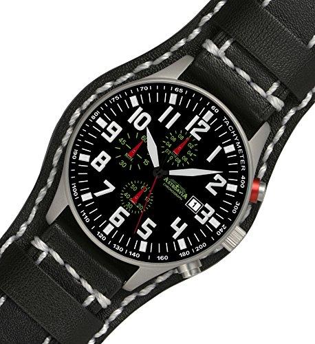 N55L3U3 Astroavia Chronograph 44mm Quarz Lederarmband