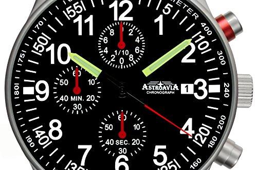 N97L7U7 Astroavia Chronograph 40mm Quarz Lederarmband