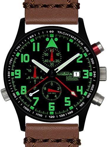 R44BL6 Astroavia Alarm Chronograph Lederarmband