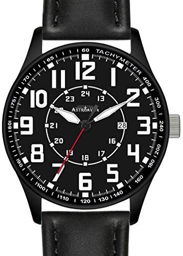 Y5BA Astroavia Herren Armbanduhr Lederband quarz