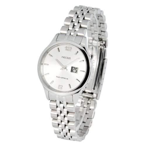 Elegante MARQUIS Damen Funkuhr Junghans-Uhrwerk Gehaeuse und Armband aus Edelstahl 9644790