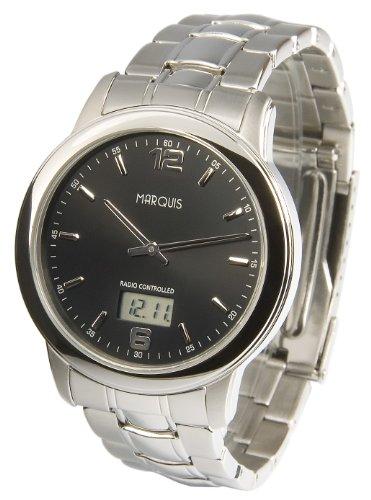 Elegante MARQUIS Herren Funkuhr Junghans Uhrwerk Gehaeuse und Armband aus Edelstahl 964 6175